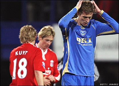Dirk Kuyt, Fernando Torres, Liverpool; Peter Crouch, Portsmouth