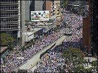 """Marcha por el """"No"""" en Caracas, Venezuela."""