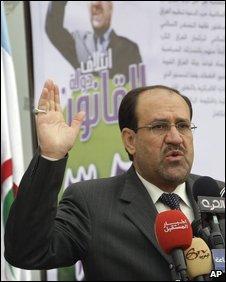 Nouri al-Maliki in Baghdad, 07/02
