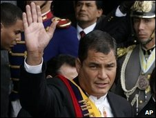 Rafael Correa in Quito, file image
