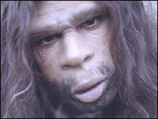 Televisual representation of a Neanderthal (BBC)