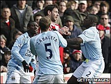Delap and Wright-Phillips tussle