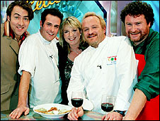 Jonathan Ross, Phil Vickery, Fern Britton, Antony Worrall Thompson and Rory McGrath