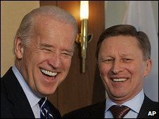 US Vice-President Joe Biden and Russian Deputy Prime Minister Sergei Ivanov in Munich