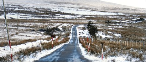 Gerry Gallagher sent in this image of Divis Road, behind