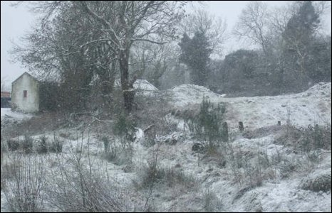 Sharon McCone sent in this shot of the snow in Camlough, County Armagh