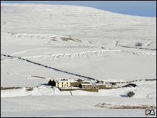 Remote farmhouse near Reeth in the Yorkshire Dales