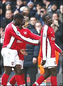 Kolo Toure, Bacary Sagna, Emmanuel Eboue, Arsenal