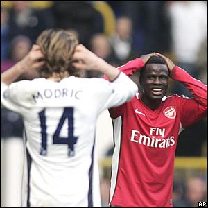 Luca Modric, Tottenham Hotspur; Emmanuel Eboue, Arsenal