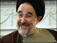 Mohammad Khatami at a meeting in Tehran, 3 February