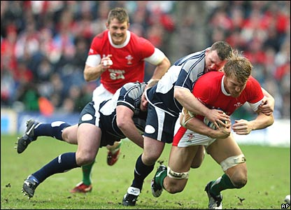 Allan Jacobsen, Geoff Cross, Scotland; Andy Powell, Wales