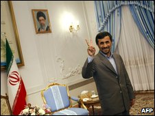 Mahmoud Ahmadinejad in Tehran, 1 February
