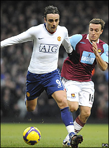 Dimitar Berbatov, Manchester United; Mark Noble, West Ham United