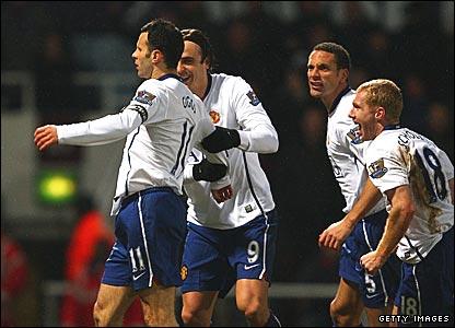 Ryan Giggs, Dimitar Berbatov, Rio Ferdinand, Paul Scholes, Manchester United