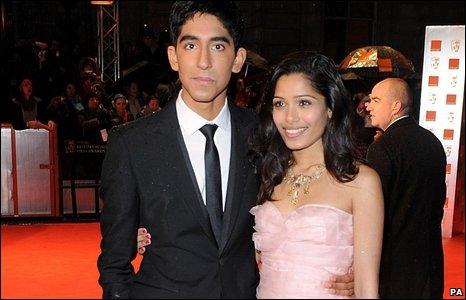 Dev Patel (left) and Freida Pinto
