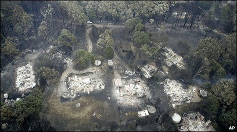 Aftermath of wildfires in Kinglake, 08/02