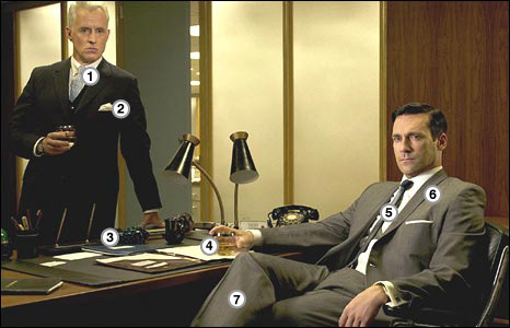 Roger Sterling and Don Draper (Picture courtesy Carin Baer, AMC, Lionsgate)