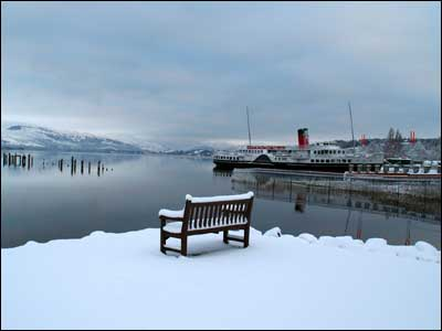 "Craig Jump calls this picture of Loch Lomond and the Maid of the Loch, ""Seat with a view""."