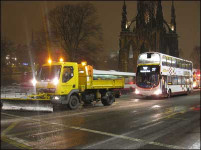 """Edinburgh shows London how to keep the buses running in the snow"", says Keith L McGillivray"
