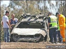 Burnt out vehicle in Bendigo