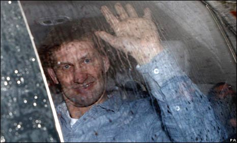 Tony Adams leaves Portsmouth's training ground on Monday