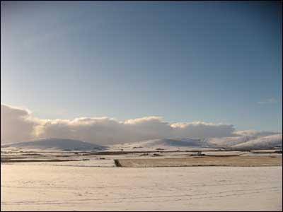 A snow scene from Rendall in Orkney. Taken by John Gray.