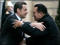 مبارك وساركوزي