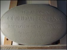 Memorial to Olaudah Equiano