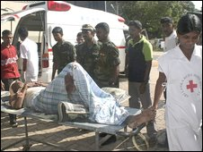 Wounded at hospital in Anuradhapura