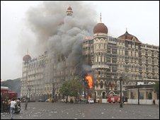 Mumbai's Taj Mahal Palace Hotel, during the November attacks