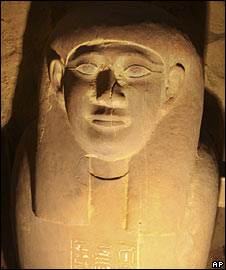 One of the newly-discovered mummies (Image: Supreme Council of Antiquities)