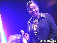 Singer Cesaria Evora performs in Rome in April 2008