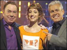 Andrew Lloyd-Webber, Maria winner Connie and David Ian