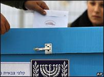 Casilla de votación en una estación militar.