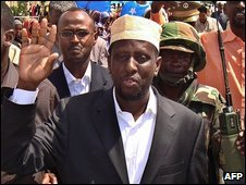 Somalia President Sheikh Sharif Sheikh Ahmed  on 7 February