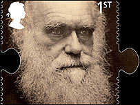 Sello con imagen de Darwin