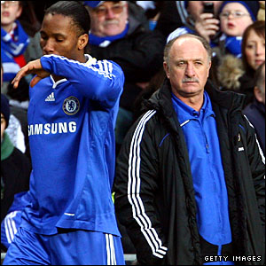 Scolari failed to get the best out of Didier Drogba (left)