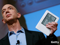 Jeff Bezos with Kindle 2