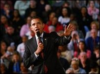 الرئيس الأمريكي باراك أوباما (09/03/09)