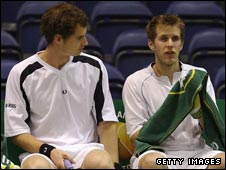 Andy Murray and James Auckland