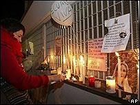 Vigilia en la clínica La Quiete en Udine en el nordeste de Italia