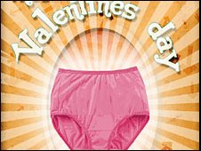 A poster of the underwear campaign