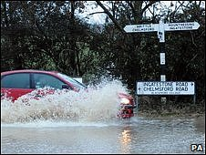 Flooding in Blackmore village