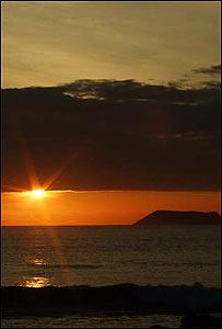Atardecer en las islas Gal�pagos.