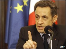 Nicolas Sarkozy speaking in Baghdad 10/02/09