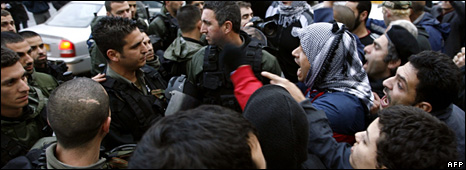 Israeli Arabs protest in Umm al-Fahm (10 February 2009)