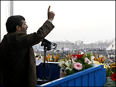 Mahmoud Ahmadinejad speaks at rally in Tehran marking 30th anniversary of Islamic revolution - 10/2/2009