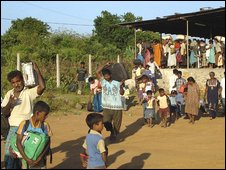 Civilians flee fighting in north-east
