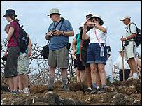 Turistas en las islas Gal�pagos