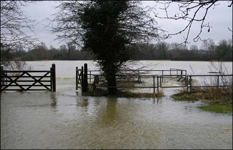 Flooding in Sudbury, Suffolk (pic: Sue Crush)